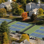 MIDDLEBURY, VT (October 17, 2009) - Aerial images of the campus of Middlebury College, Middlebury, Vermont. (Photo © Brett Simison)